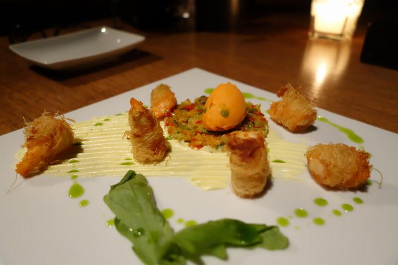 εστιατόριο Abovo γαρίδες καταΐφι
